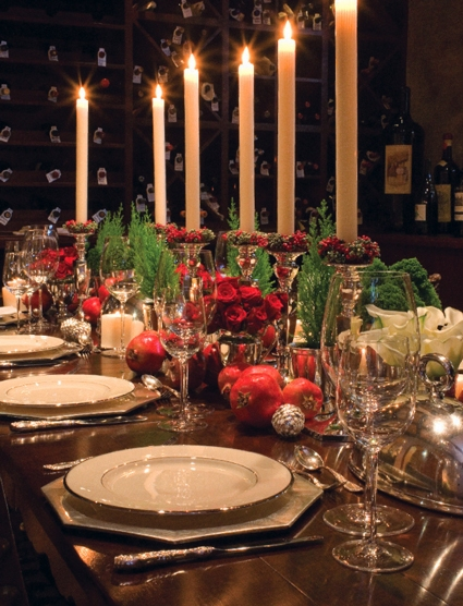 table centerpiece, christmas wedding decor
